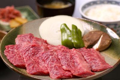 飛騨牛の焼肉定食