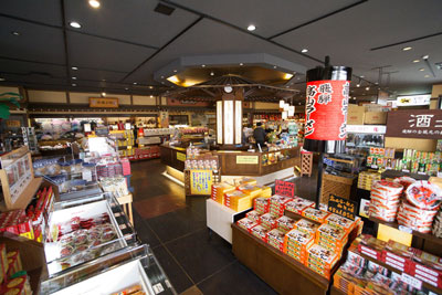 飛騨高山のお土産ショップ角桑の店内